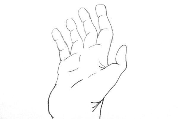 Artist's Depiction - Hand, Before