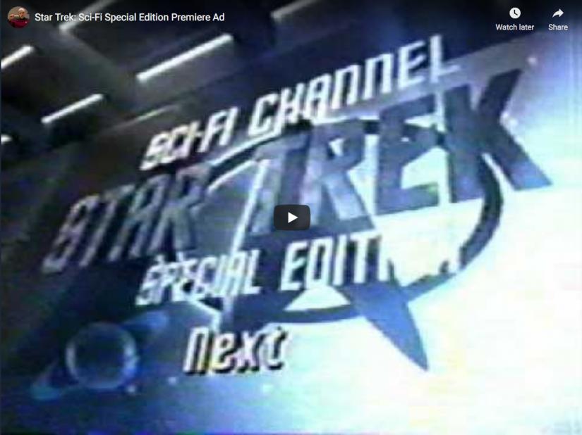 Star Trek: Sci-Fi Special Edition Premiere Ad