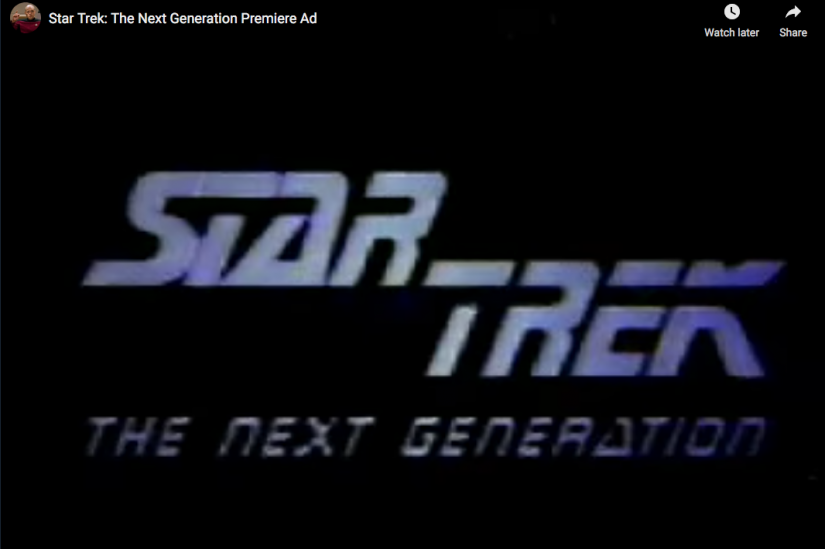 Star Trek: TNG Ad Title Card