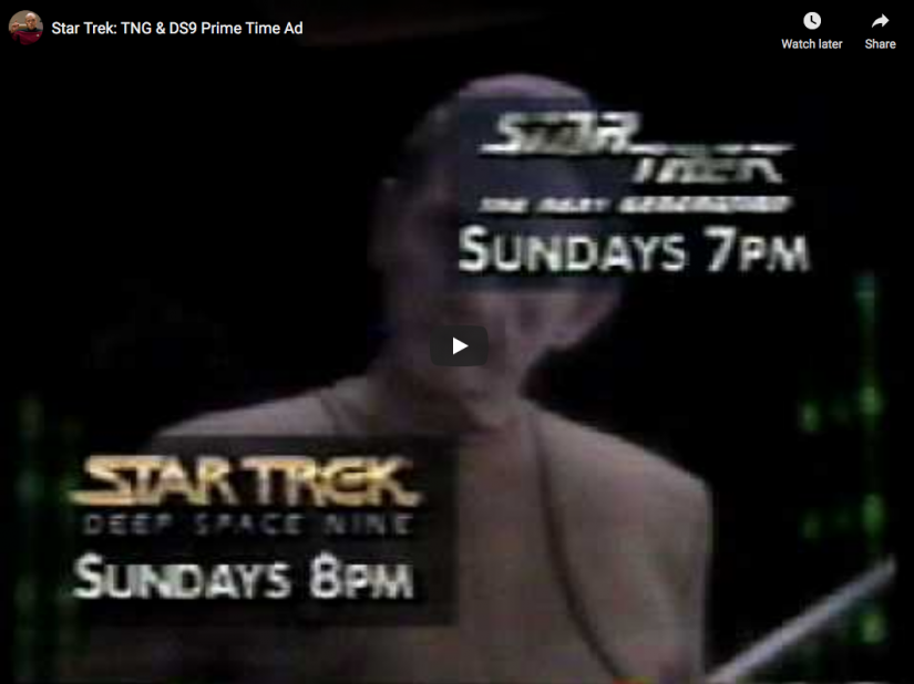 Star Trek: The Next Generation & Deep Space Nine Prime Time Ad